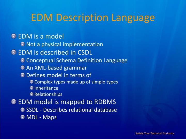 EDM Description Language