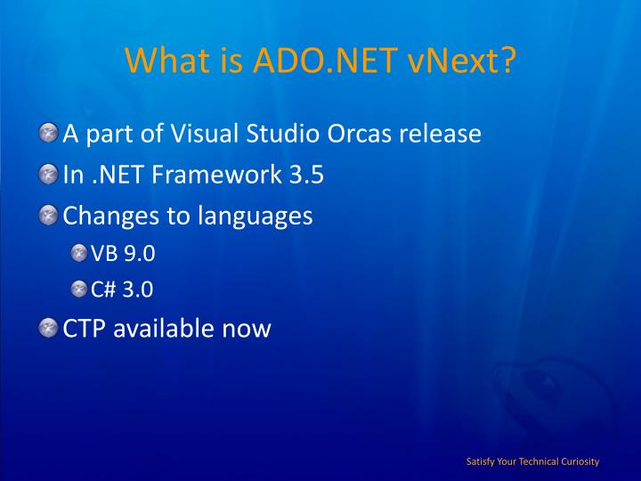 What is ADO.NET vNext?