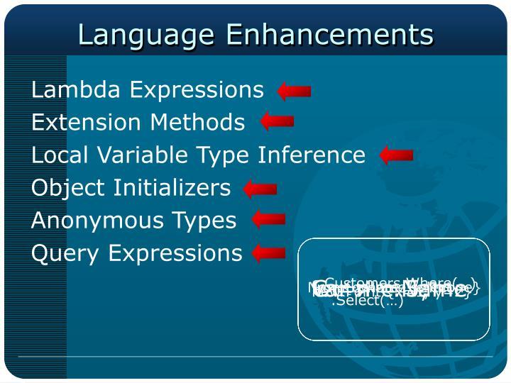 Language Enhancements