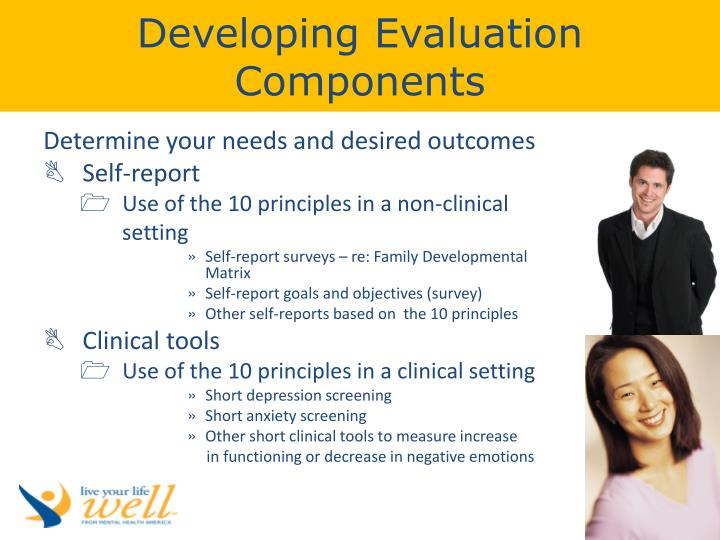 Developing Evaluation Components