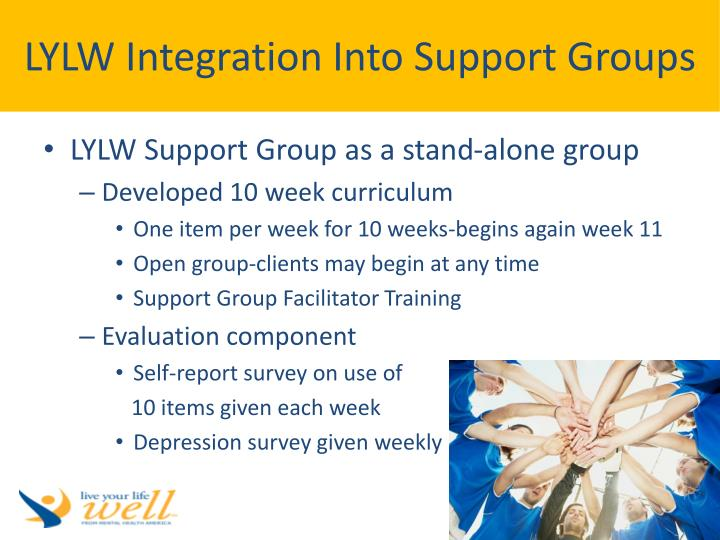LYLW Integration Into Support Groups