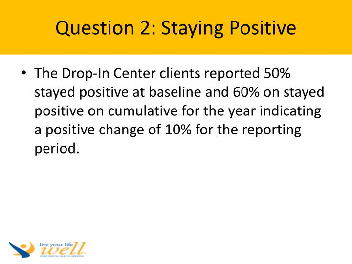Question 2: Staying Positive
