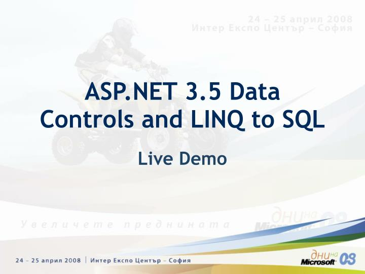 ASP.NET 3.5 Data Controls and LINQ to SQL