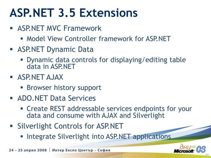 ASP.NET 3.5 Extensions