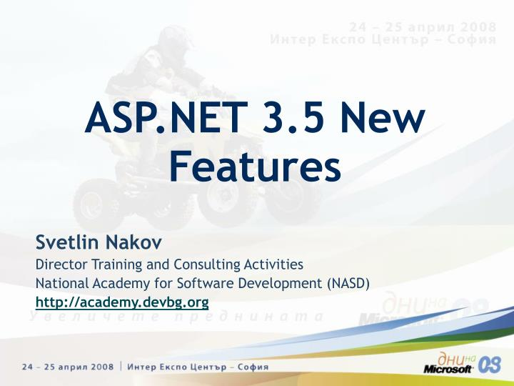 Asp net 3 5 new features