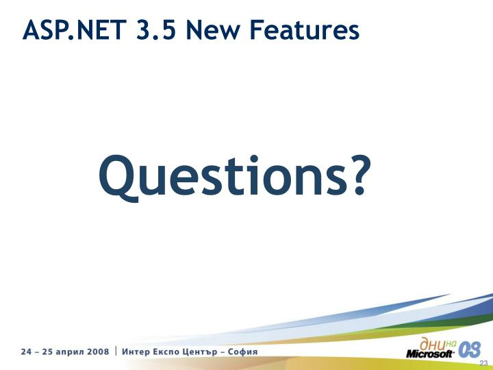 ASP.NET 3.5 New Features