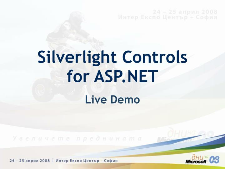 Silverlight Controls for ASP.NET