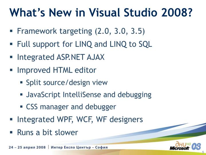What's New in Visual Studio 2008?