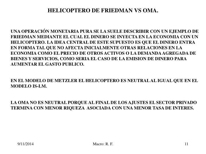 HELICOPTERO DE FRIEDMAN VS OMA.