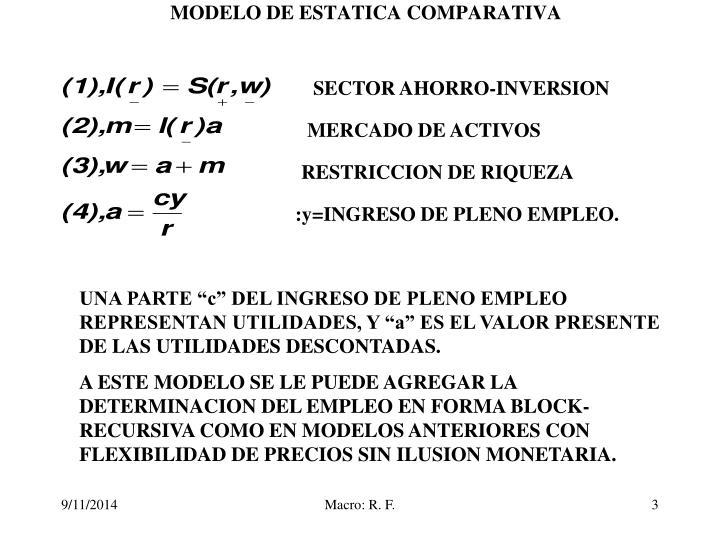 Modelo de estatica comparativa