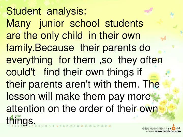 Student  analysis:
