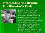 interpreting the drama the director s task