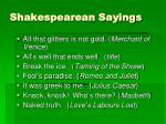 shakespearean sayings