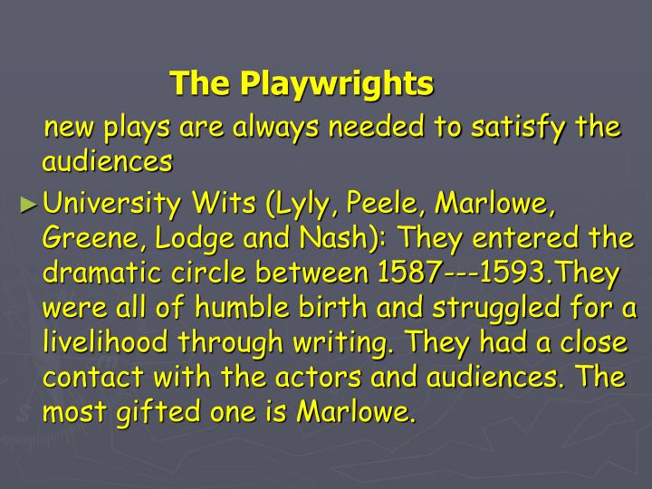 The Playwrights