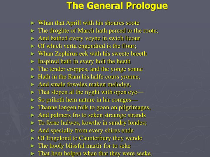 The General Prologue