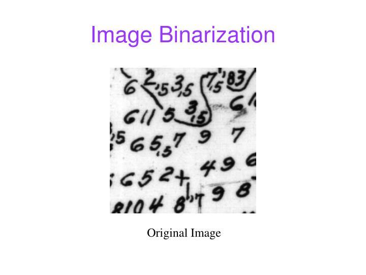Image Binarization