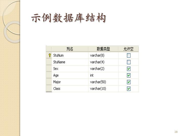 示例数据库结构