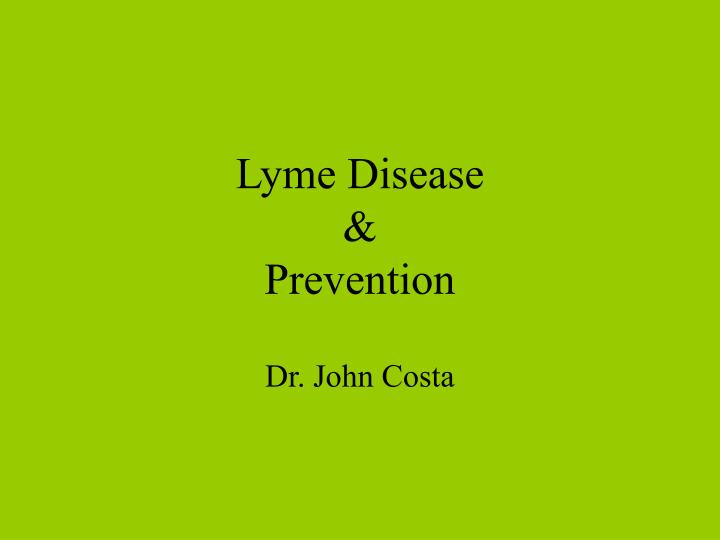 Lyme disease prevention
