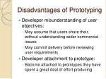 disadvantages of prototyping1