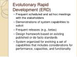 evolutionary rapid development erd2