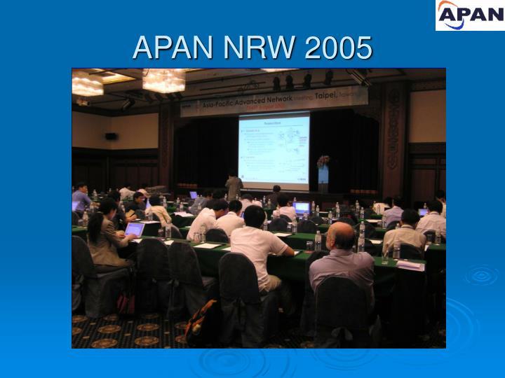 APAN NRW 2005
