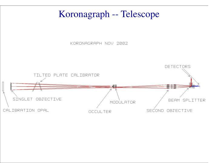 Koronagraph -- Telescope