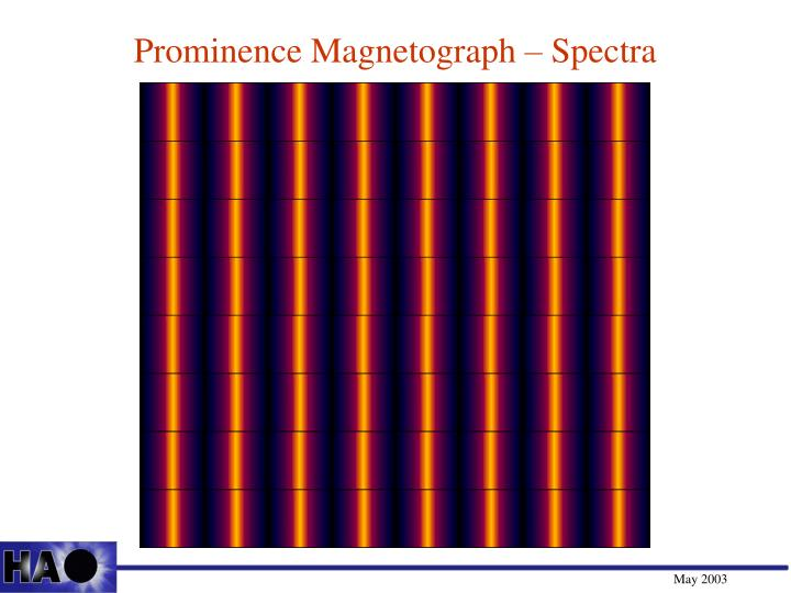 Prominence Magnetograph – Spectra