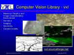computer vision library vxl