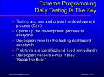 extreme programming daily testing is the key