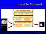 level set framework