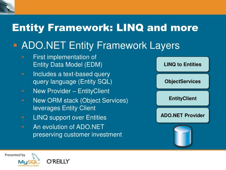 Entity Framework: LINQ and more