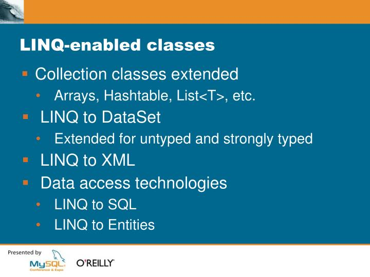 LINQ-enabled classes