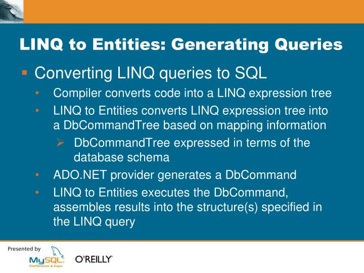 LINQ to Entities: Generating Queries