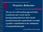 proactive behaviors