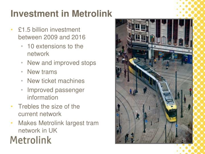 Investment in metrolink