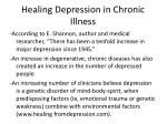 healing depression in chronic illness