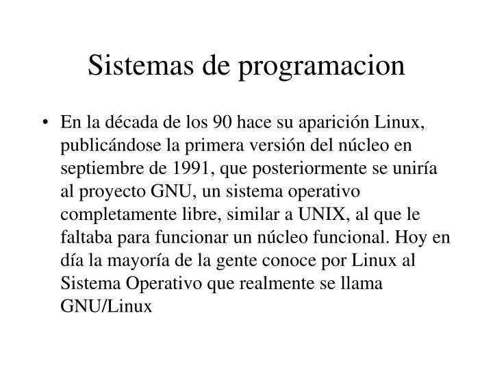 Sistemas de programacion