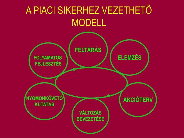 A PIACI SIKERHEZ VEZETHETŐ MODELL