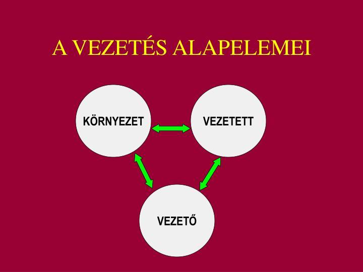 A VEZETÉS ALAPELEMEI