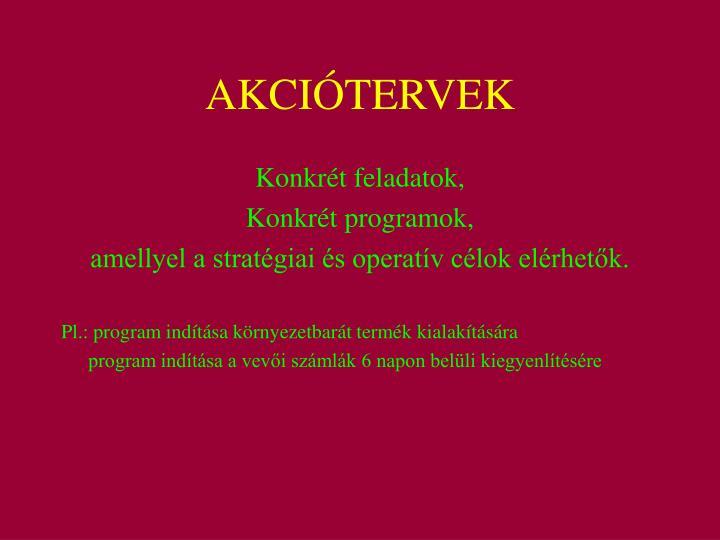 AKCIÓTERVEK