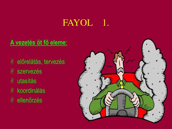 A vezetés öt fő eleme