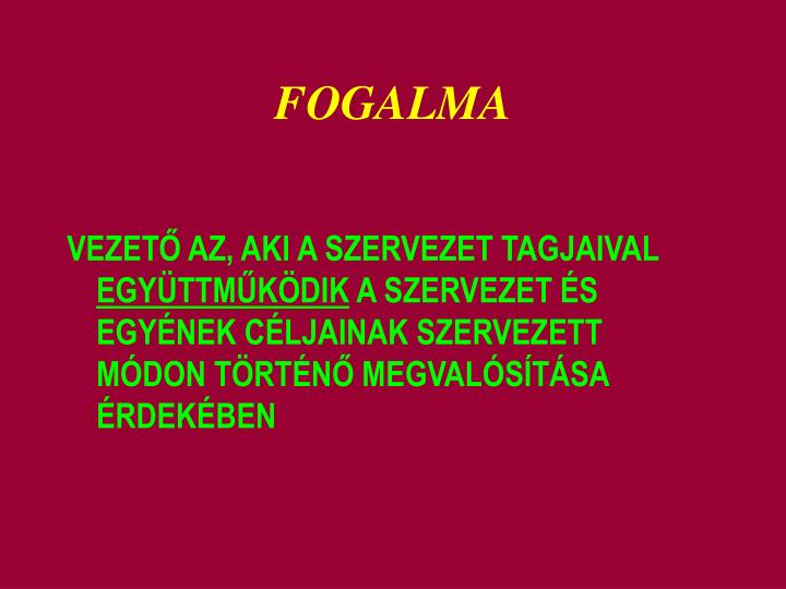 FOGALMA