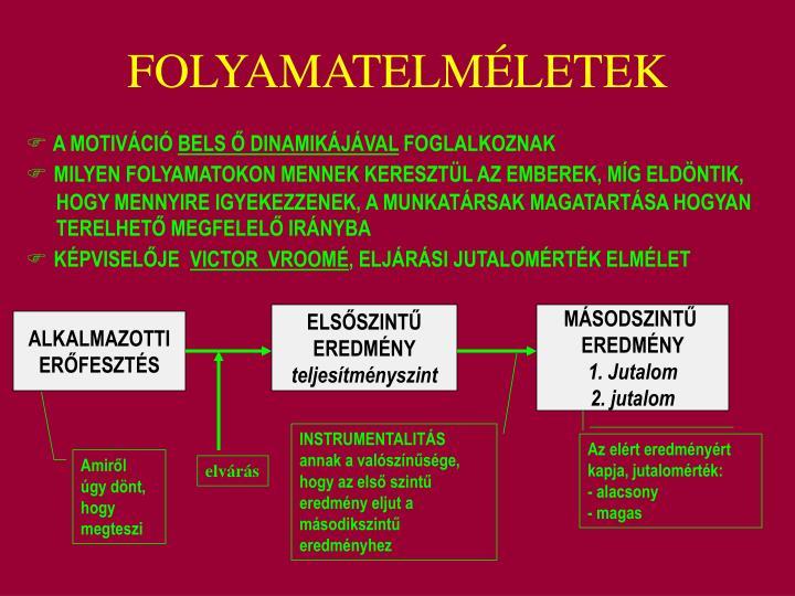 FOLYAMATELMÉLETEK
