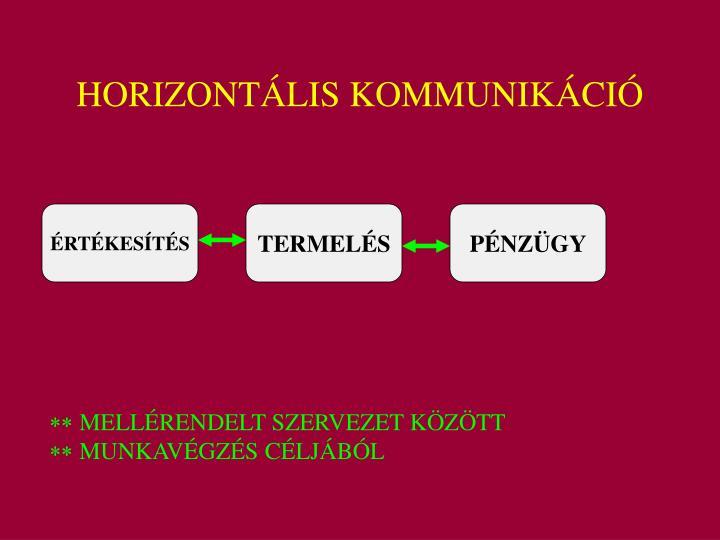 HORIZONTÁLIS KOMMUNIKÁCIÓ