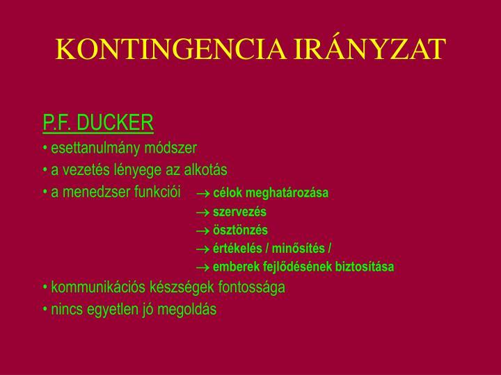 KONTINGENCIA IRÁNYZAT
