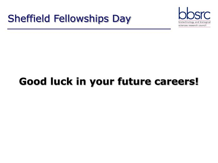 Sheffield Fellowships Day