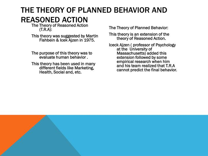The theory of planned behavior and reasoned action