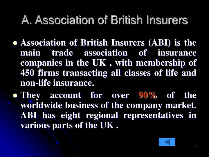 A. Association of British Insurers