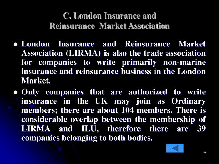 C. London Insurance and