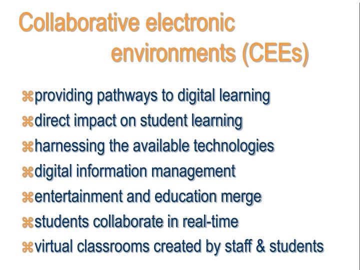 Collaborative electronic